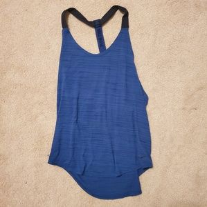 Nike Elastika Dri fit Exercise Tank Top Blue